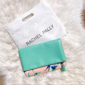 NWT Rachel Pally Pink Palm Fold Over Clutch Bag